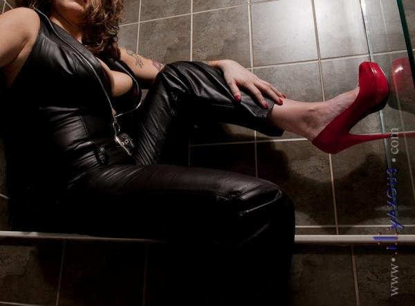 Leather and Red Heels