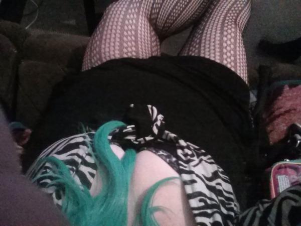 Laying down like a princess in heat
